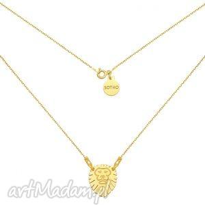 ręcznie robione naszyjniki złoty naszyjnik z lwem