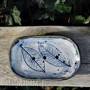 ceramika mydelniczka kobaltowa ceramiczna, mydelniczka, ceramiczna
