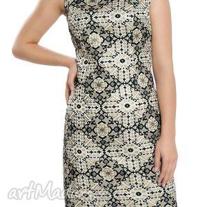 sukienki sukienka wieczorowa z bogatym wzorem rozmiar 42, wieczorowa, elegancka