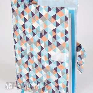 okładka na książeczkę zdrowia - trójkąty, etui, okładka, książeczka, zdrowia