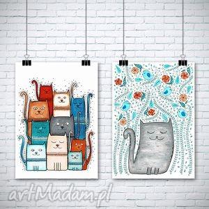 zestaw 2 prac a3 - kot, koty, plakat