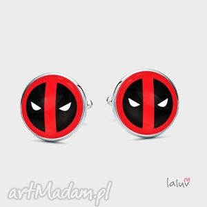 spinki do mankietów deadpool, superbohater, film, marvel, komiks