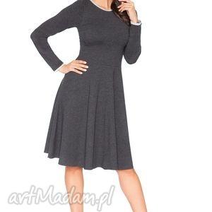 rozkloszowana sukienka f_3 - rawear, sportowa, dresowa, wygodna, midi