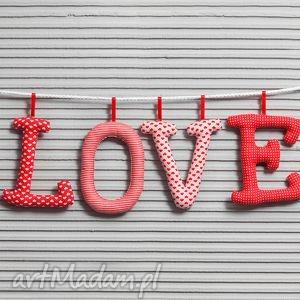 love literowe szyte literki, love, dekoracja, girlanda, prezent, walentynki
