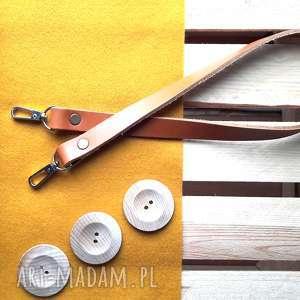 pasek skorzany do torebki 2cm x 120cm rozne kolory - skórzany koniakowy, odpinany