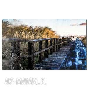 Obraz xl droga na plażę 1 - 120x70cm płótnie loft aleobrazy