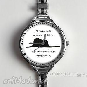 egginegg mały książę - zegarek z dużą tarczką 0966ws - białe