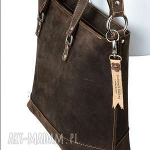 ręcznie robiona skórzana torebka brązowa, brązowa torebka, damska
