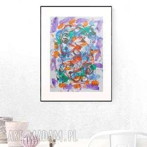 abstrakcyjna grafika, ręcznie malowana abstrakcja, grafika lofty, nowoczesna