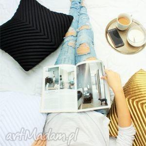 poduszki poduszka chevron 50 black, poduszkaozdobna, poduszkadekoracyjna,