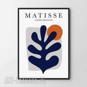 plakat obraz matisse navy blue a3 - 29 7x42 0cm, obraz, plakat, abstrakcja