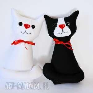 Ślubna para kotki miau ślub motylarnia ślub, zabawka, maskotka