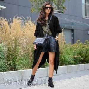 asymetryczny długi sweter płaszcz, dweter, długi, dzianina, ciepły