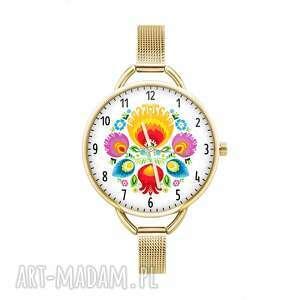 zegarki zegarek z grafiką łowiczanka, łowicz, folklor, homemade, ludowy