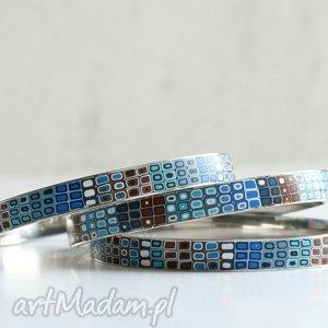 ręczne wykonanie bransoletki komplet stalowych bransolet