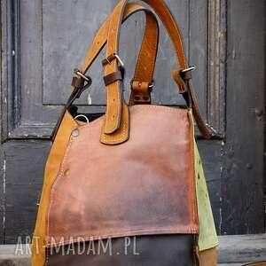 torebka skórzana wykonana ręcznie idealna torba do pracy od ladybuq pakowna
