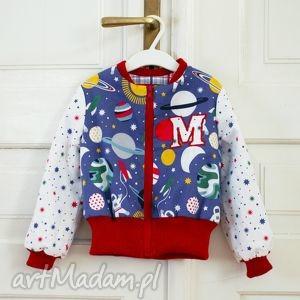 bluza lot w kosmos, bluza, dwustronna, suwak, kratka, planety, kosmos dla dziecka