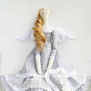 anioł tilda prezent na komunię - skandynawski, chrzest, komunia