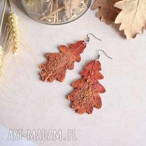 sirius92 malowane kolczyki w formie liści, liście, jesienne
