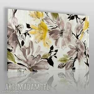 Obraz na płótnie - KWIATY WIŚNIA 120x80 cm (15401), kwiaty, wiśnia, drzewo, natura