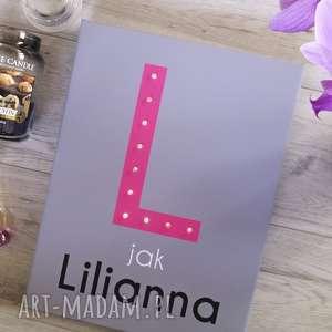 świecąca litera z imieniem obraz prezent dekoracja, litera, led, personalizowany