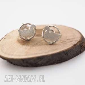 srebrne kolczyki kaczki jachyra jewellery, animal