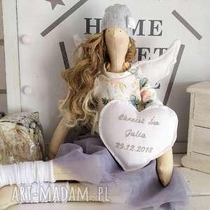 anioł lalka na pamiątkę chrztu świętego, anioł, tilda, pamiątka