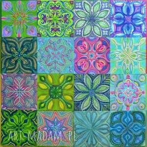 mozaika kastylia 4x4, malarstwo, mozaika, kafeliki, kastylia, kompozycja, obraz