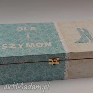 handmade scrapbooking kartki pudełko na wino