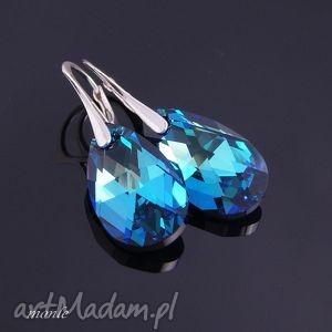 Kolczyki Night Blue - ,kolczyki,swarovski,srebrne,niebieskie,