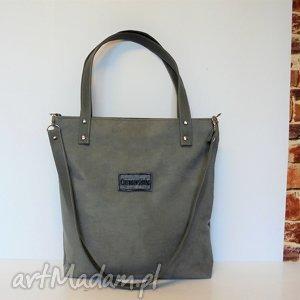 Shopper bag, szara, torba, szyta, modna, wygodna, fashion