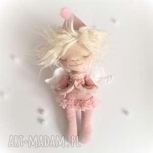 e piet aniołek dekoracja ścienna - figurka tekstylna ręcznie malowana, anioł, na