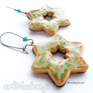 pomysły na prezenty pod choinkę KOLCZYKI ciasteczka z agrestową galaretką, kolczyki