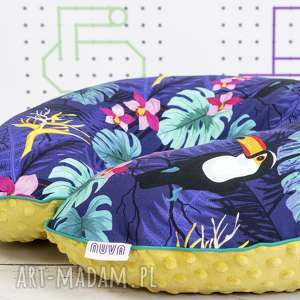 handmade dla dziecka duża poduszka do karmienia tukany nocą