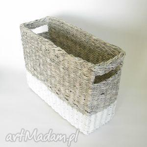 handmade kosze gazetnik gray&white / wzór