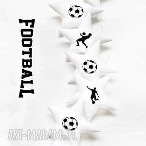 wyjątkowy prezent, football - girlanda, gwiazdki, piłka, piłkarz pokoik