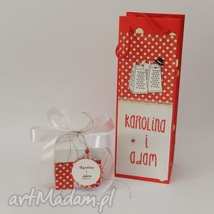 handmade scrapbooking kartki komplet kartka torebka na wino