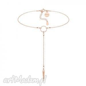 sotho łańcuszkowy choker z kłem z różowego złota