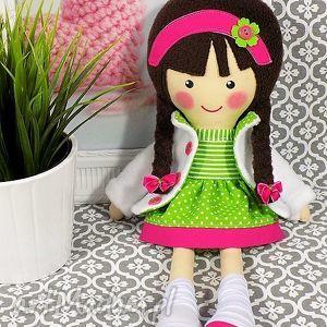 malowana lala lara - lalka, zabawka, przytulanka, prezent, niespodzianka, dziecko