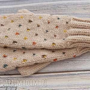 rękawiczki w kolorowe plamki, rękawiczki, walentynki, prezent, jednopalczaste