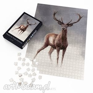 puzzle - jeleń 2 60x42 cm 600 elementów, puzzle, układanka, obraz, jeleń, jelonek