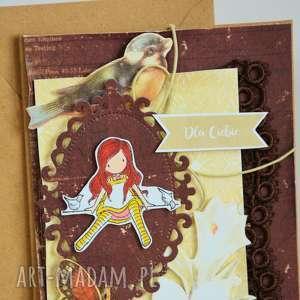 kartka - dla ciebie (2 ), uniwersalna vintage, elegancka, stempel, motyle