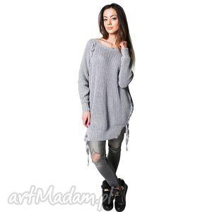 Sweter COMFORT 1 | Szary, bawełna, długi
