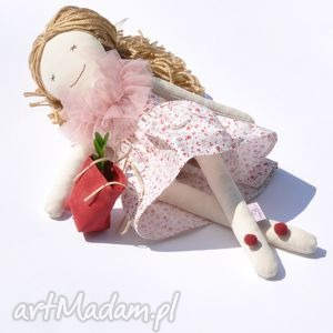 lalka szmacian w letniej sukience, lalka, szmaciana, szmacianka, przytulanka