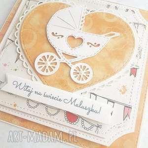 Prezent Urocza kartka, prezent, dziecko, narodziny, życzenia
