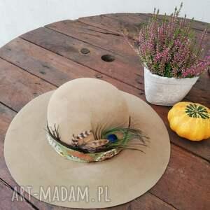 czapki jesienny kapelusz, kapelusz, filcowy, wełna
