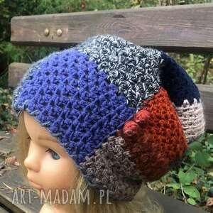 czapka patchworkowa, patchworkowa, ciepła czapka, damska