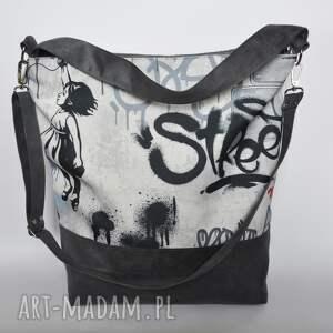 pracownia 166 torbay hobo xxl - print graffiti, hobo, worek, print, graffiti