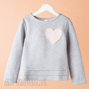 Bluza DB03M, serce, bawełniana, wygodna, modna