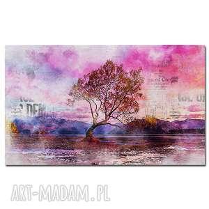 obraz drzewo 36 - 120x70cm na płótnie do sypialni, obraz, płótnie